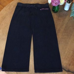 Juicy Couture Black terry crops S